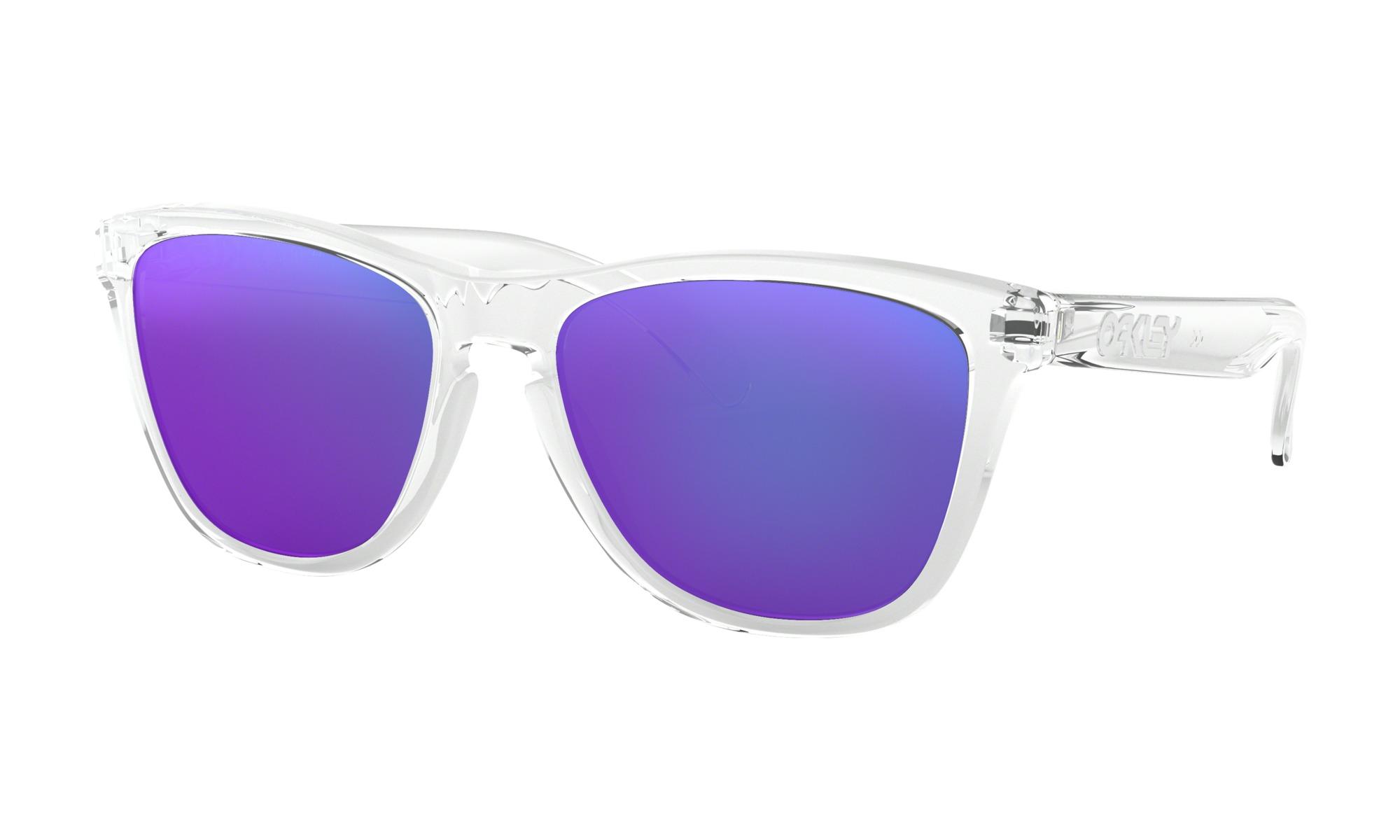 f9c03fbc23b3 Oakley Frogskins Sunglasses – Polished Clear with Violet Iridium Lens