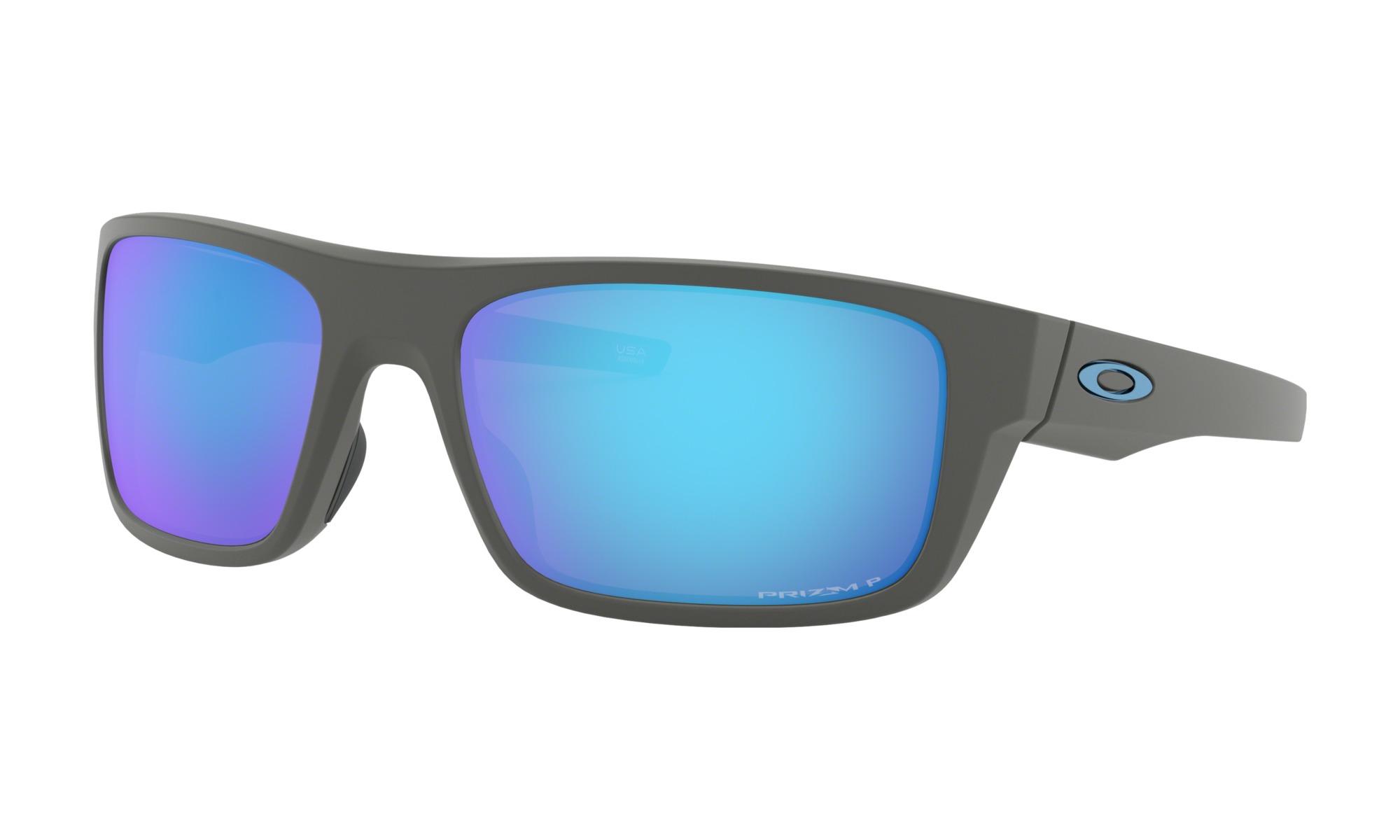 Oakley Drop Point >> Oakley Drop Point Men S Sunglasses Matte Grey W Prizm Sapphire Polar Lens